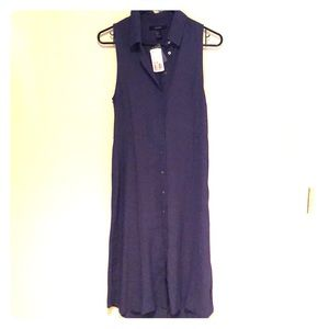 Forever 21 shin length navy dress